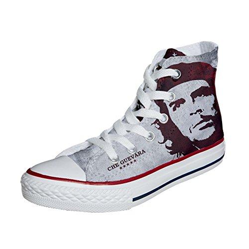 Scarpe Converse All Star Alte personalizzate (scarpe artigianali) El Che
