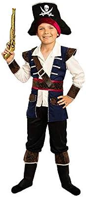 Disfraz infantil de capitán pirata para niño - Traje de corsario ...