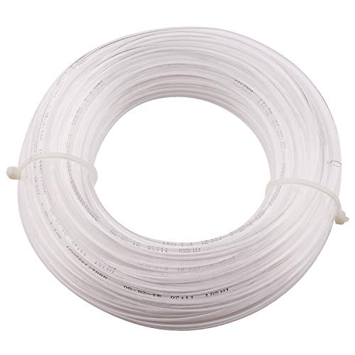 - Pneumatic Air Line Tubing - Clear Pipe 1/4 Inch PU Air Hose for Air Brake System or Fluid Transfer Flexible 10 Meters 32.8 Ft Fit Quick Connect Fitting
