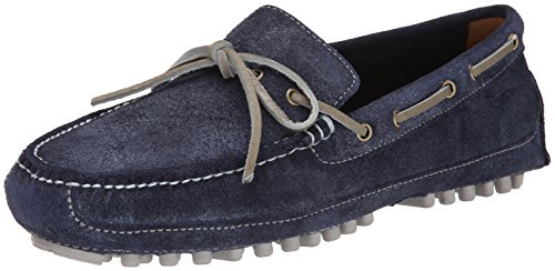 Cole Haan Men's Grant Canoe Camp L Slip-On Loafer,Washed Indigo Suede,13 M US
