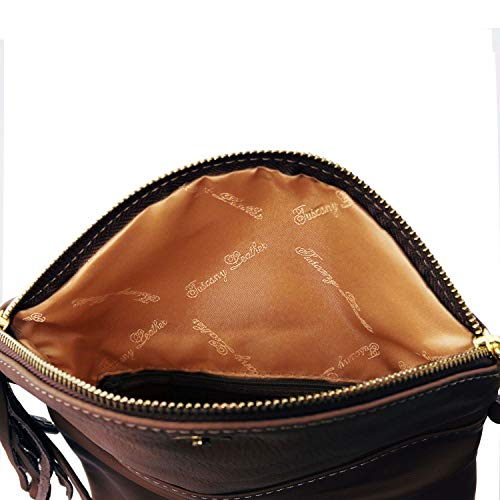 Brown with tassel Dark bag detail TL Young bag Leather Tuscany Red Shoulder pvqYBPYx