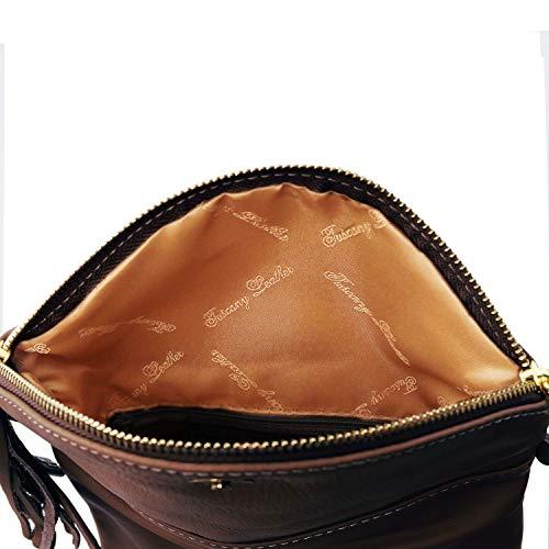 pompon Bag avec Leather bandoulière Marron TL Tuscany Young Foncé foncé Taupe Sac WqB0YTWtw