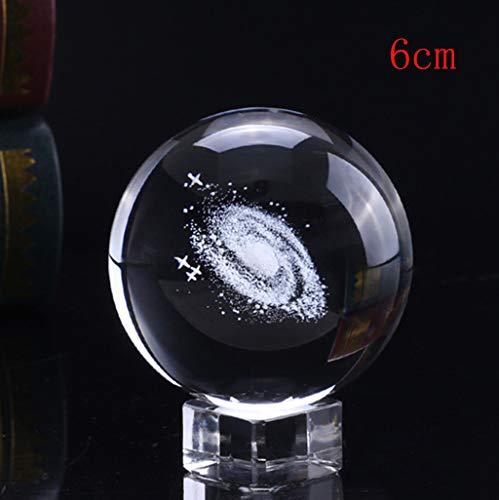 Kiminana Crystal Ball,Home Decor Solar System Crystal Ball Engraved Solar System Miniature Planets ()