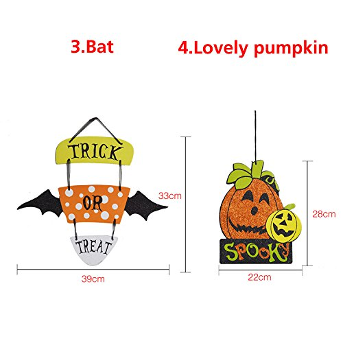 Parody Dangling - Halloween Spoof Hanging Decoration Pumpkin Ghost Skull Witch Door Hanger Supply - Sendup Suspended Pasquinade Charade Wall Mockery Supported Takeoff Lampoon - 1PCs by Unknown (Image #6)