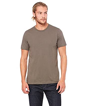 Bodek And Rhodes 60131632 3001 Bella Canvas Unisex Jersey Short-Sleeve Tee Army - Extra Small