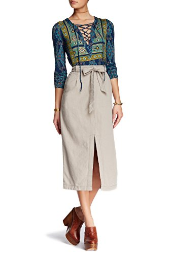 Free-People-Easy-Breezy-Linen-Blend-Skirt-Size-10