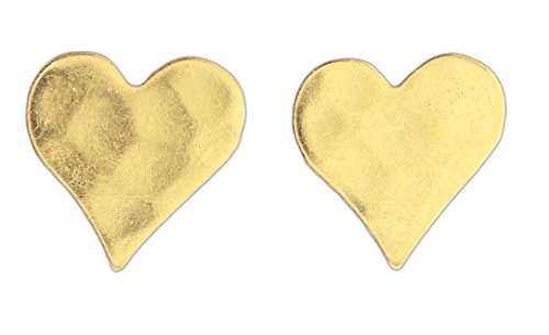 Nature Cast Metalworks Post Earrings (Gold-Plated Hearts)