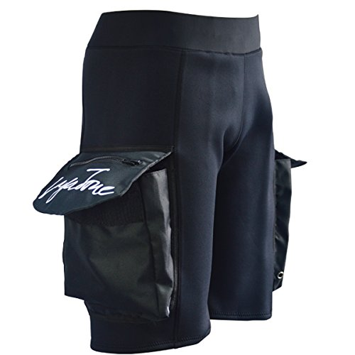 Layatone Wetsuit Shorts Men with Pocket Oversize 3mm Neoprene Diving Surfing Spearfishing Scuba Diving Shorts Men Tech Wet Suits Men Canoeing Snorkeling Kayaking Shorts (Basic Version) (Shorts Diving Scuba)