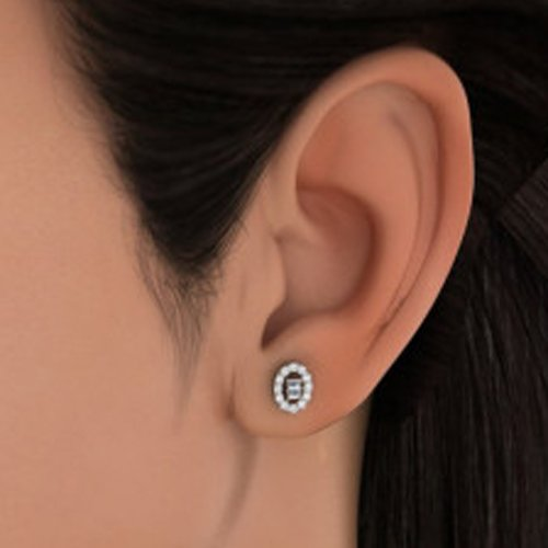 14 K Or jaune 0,34 CT TW White-diamond (IJ | SI) Boucles d'oreille à tige