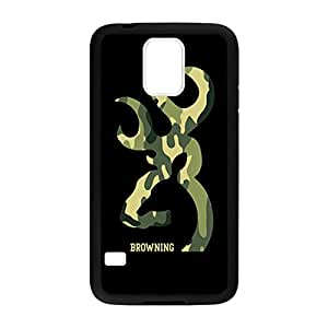 Browning Deer Camo for Samsung Galaxy S5 Case Cover 038300 Rubber Sides Shockproof Protection with Laser Technology Printing Matte Result