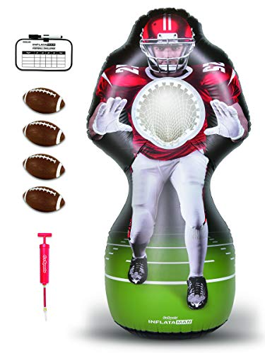 GoSports Inflataman Football Challenge   Inflatable Receiver Touchdown Toss Game