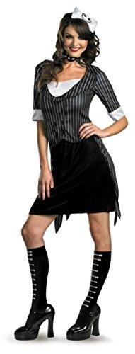 Disguise Womens Jack Skellington Sassy Nightmare Fancy Halloween Costume, L (12-14)