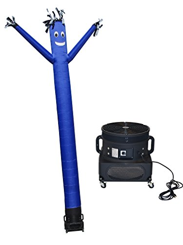 LookOurWay Air Dancers Inflatable Tube Man Complete Set with 1 HP Sky Dancer Blower, 20-Feet, Blue - Set Inflatable