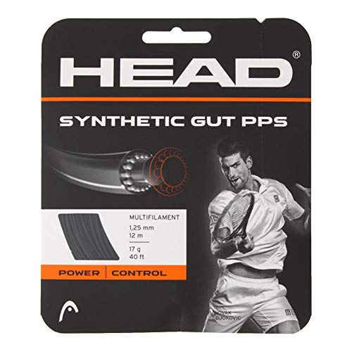 HEAD Synthetic Gut PPS Tennis String - 17g - Black ()