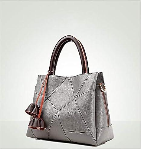 Amazon.com: Genuine Leather Bag Female Large Capacity Tote ...