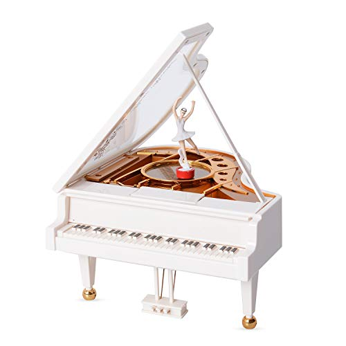 Shop LC Delivering Joy White Piano with Dancer Music Box 6.69x7.08x3.93