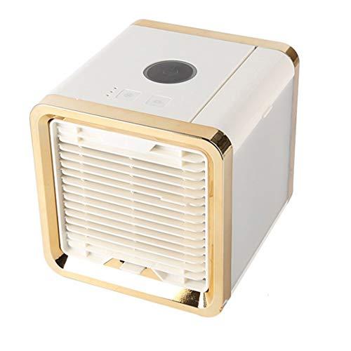 LiYL Portable 7 Colors LED Light Air Cooler Air Conditioner Air Cooler Air Conditioning USB Air Condition Cooling Fan Cooler Fan (Color : Gold)