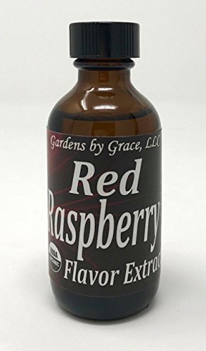Organic Flavor Extract Raspberry | Use in Gourmet Snacks, Candy, Beverages, Baking, Ice Cream, Frosting, Syrup and More | GMO-Free, Vegan, Gluten-Free, 2 oz by Gardens by Grace