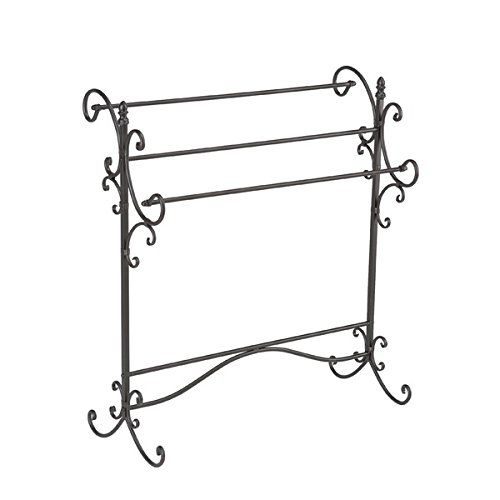 Upton Home Bronze Finish Black Metal Quilt Rack by Upton