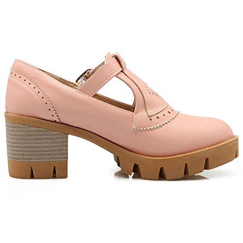 COOLCEPT Damen Mode Blockabsatzs Pumps Pink