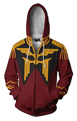 Dawn BG Men's 3D Printed Zip-up Hoodie Jacket Cosplay Costume (Red, XS) ()