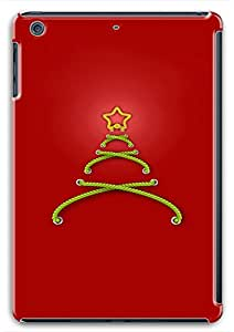 iPad Mini Retina Stitched Christmas Tree Red Background716 PC Custom iPad Mini Retina Case Cover