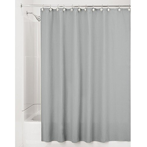 el Fabric Cotton and Polyester Blend Shower Curtain, Long, 72 x 84, Natural (Polyester Curtain)