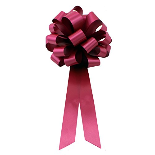 Burgundy Pull Bows with Tails - 8