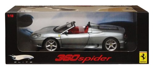Hot Wheels Elite Ferrari 360 Spider - Blue (Spider Ferrari 360 Modena)