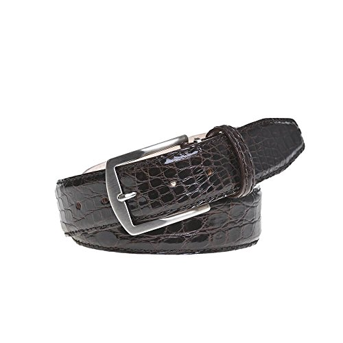 Brown Crocodile Leather Belt by Roger Ximenez: Bespoke Maker of Fine Leather Goods