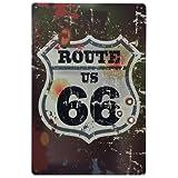 Carteles vintage metálicos de Ruta 66. Posters y chapas decorativas decorativas de pared: Route