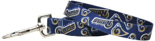 Yellow Dog Design St. Louis Rams Licensed NFL Dog Leash, Large, 1-Inch by 60-Inch