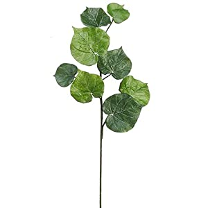 "36"" Begonia Leaf Spray Green (pack of 4) 24"
