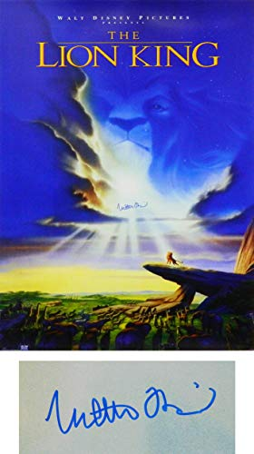 Matthew Broderick Signed The Lion King 27x40 Full Size Movie Poster ()