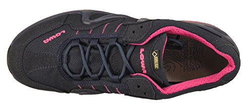 Lowa Chaussures De Marche Pour Femmes Gorgone GTX 320578 - bleu marine - fuchsia, Unisexe - Adultes, UK 4,5