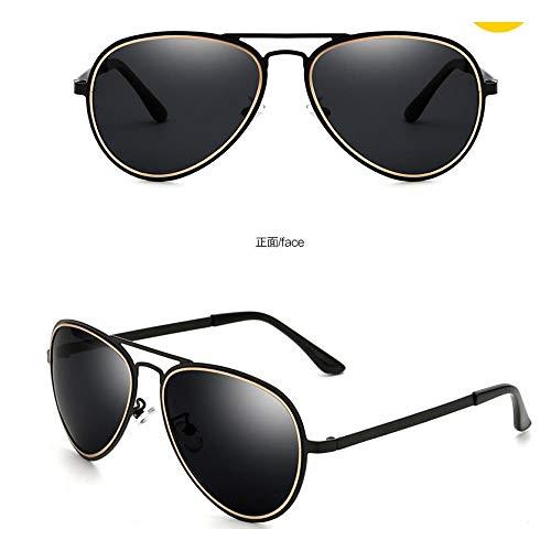 Gafas polarizadas de de Hombre Burenqiq Sol Metalizadas de de Retro Moda Sol Gafas de Gafas Negras de polarizadas Gafas frame conducción Mujer de Sol Gafas Sol y Black gray full de Sol PqPUw0Zx