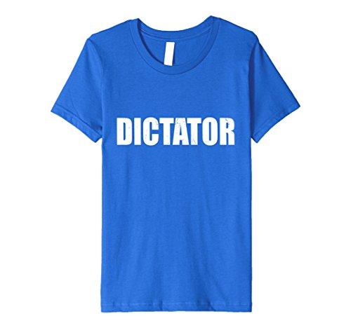 Dictator Costume Girl (Kids Dictator T Shirt Halloween Costume Funny Cute Distressed 8 Royal Blue)