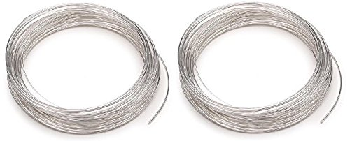 Beadalon 347B-050 Silver Plated Memory Wire Bracelet, 1/2-Ounce/Pkg, Approximately 30 Loops (2 Pack)