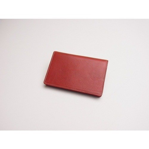 Ashford Leather business card case, real leather, red 8383-044 (Business Japanese Card)