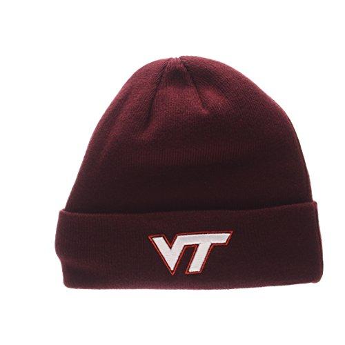 ZHATS Virginia Tech Hokies Cardinal Cuff Beanie Hat - NCAA Cuffed Winter Knit Beanie Toque Cap -  Zephyr
