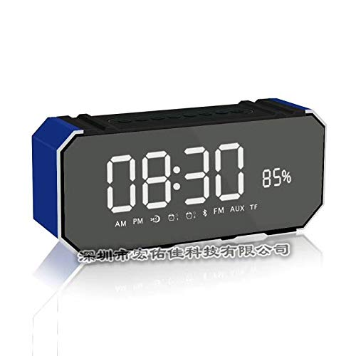 xingganglengyin Bluetooth Speaker Card Alarm Clock with Display Bluetooth Desktop Audio subwoofer Explosion by xingganglengyin (Image #7)