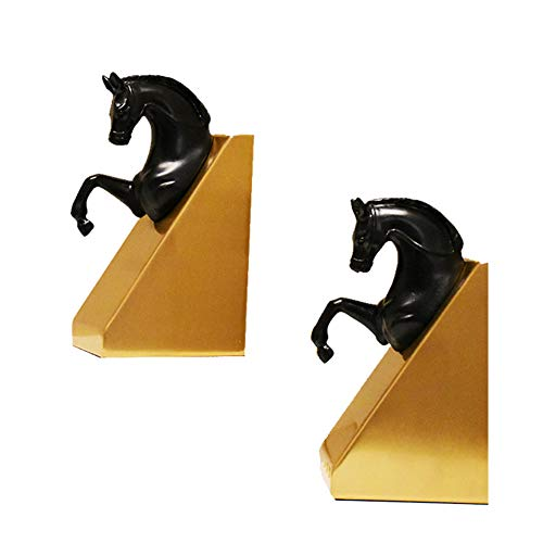 Bookends Bookshelf Horse Head Decoration Study Bookshelf Decoration Book for Euro-Modern Home,Hotel Decorative Bedroom Library Office Schoo Stationery Gift,Horse