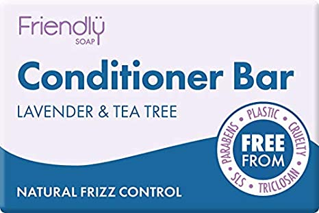 Friendly Soap Natural Conditioner Bar – Lavender & Tea Tree 95g