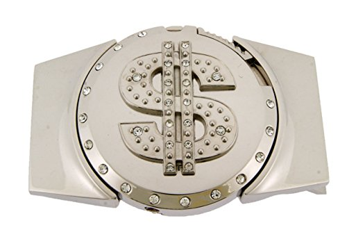 DOLLAR MONEY SILVER PLATED Lighter Belt Buckle LT-028