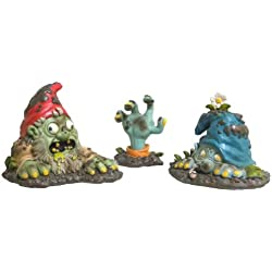 Zombie Gnome Bits Scary Halloween Party Garden Decor