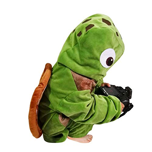 Kids Sea Turtle Costume Unisex Children Ocean Animal Cosplay Halloween Pajamas Sleepwear Outfit (Sea Turtle, S) -