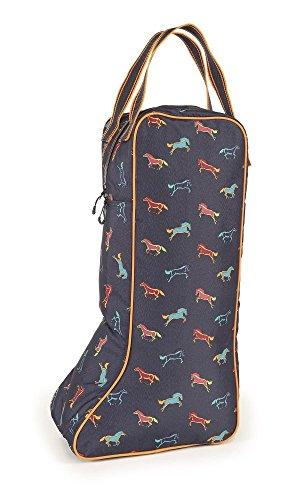 Shires–Bolsa para botas de largo, Horse Print, talla única Horse Print