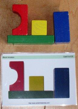 Block Imitation 25 Laminated Flash Cards For Aba Vba