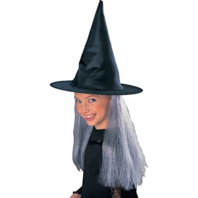 Rubie's Child's Witch Hat with Grey Hair: Toys & Games
