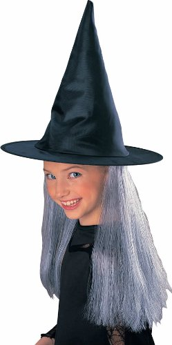 Rubie's Child's Witch Hat with Grey Hair -